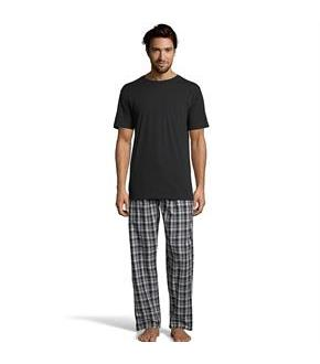Hanes Men's Sleep Set with Woven Knit Pants