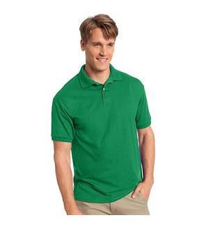 Hanes Men's Cotton-Blend EcoSmart Jersey Polo