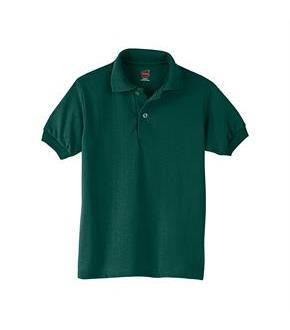 Hanes Kids' Cotton-Blend EcoSmart Jersey Polo