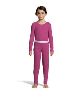 Hanes Girls' Solid Waffle Knit Thermal Set