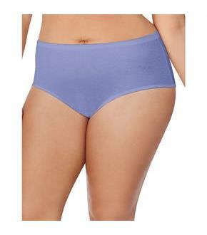 Just My Size Cotton TAGLESS Brief Panties — 8-Pack