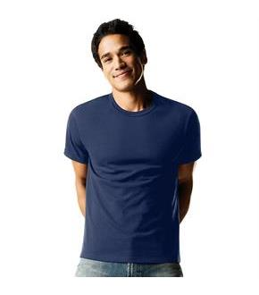 Hanes ComfortSoft TAGLESS Men's Dyed Crewneck Undershirt 4-Pack