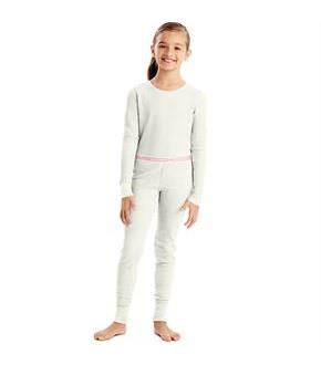 Hanes X-Temp Girls' Organic Cotton Thermal Set