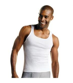 Hanes Men's White A-Shirt 3-Pack