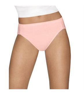 Hanes Ultimate Comfort Cotton Hi-Cut Panties 5-Pack