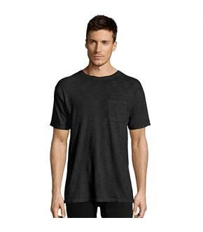 Hanes Men's 1901 Heritage Dyed Tall Short Sleeve Crewneck Pocket Tee