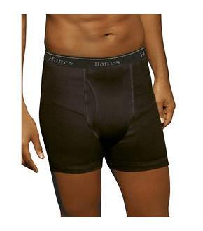 Hanes Ultimate Men's TAGLESS No Ride Up Boxer Briefs with Comfort Flex Waistband 5-Pack