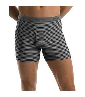 Hanes Men's TAGLESS Ultimate Fashion Stripe Boxer Briefs with Comfort Flex Waistband 5-Pack
