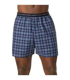 Hanes Men's Yarn Dyed Plaid Boxers 5-Pack