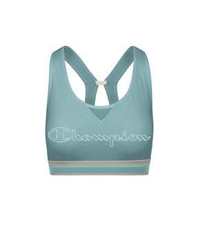 Champion The Authentic Print Sports Bra, Metallic Logo