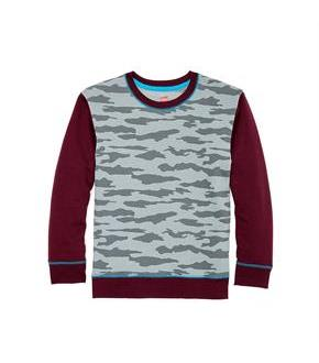 Hanes Boys' Camo Fleece Colorblock Sweatshirt