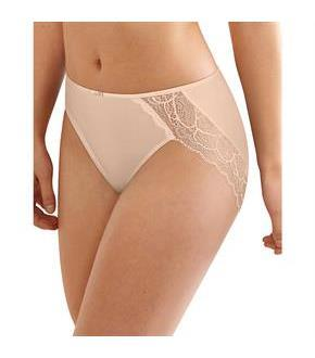 Bali Lace Desire Microfiber Hi-Cut Brief