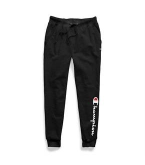 Champion Women's Plus Powerblend Fleece Joggers, Vertical Logo