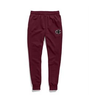 Champion Men's Powerblend Fleece Joggers, C Logo With White Chainstitch