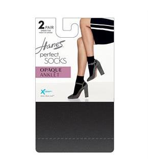 Hanes Perfect Socks Opaque Anklet P2 ST