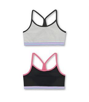 Hanes Girls' ComfortFlex Fit Pullover Bra with Thin Racerback Straps 2-Pack
