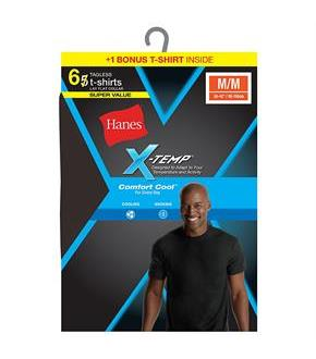 Hanes Men's Red Label X-Temp Dyed Crew Bonus Pk P5+1 Free