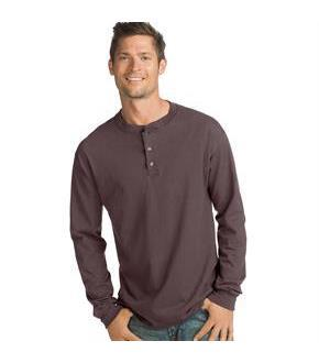 Hanes Men's Beefy-T Long-Sleeve Henley