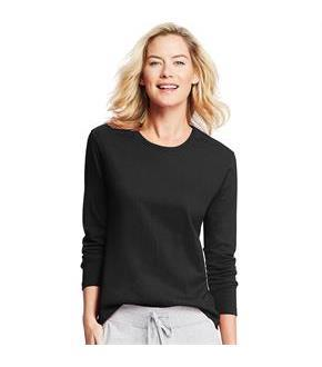 Hanes Women's Long-Sleeve Crewneck T-Shirt