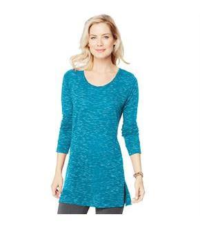 Women's Hanes Lightweight Space-Dye Vented Tunic