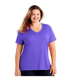 Just My Size Cool DRI Short-Sleeve Women's V-Neck Tee