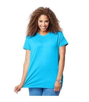 Just My Size Cotton Jersey Short-Sleeve Scoop-Neck Women's Tee