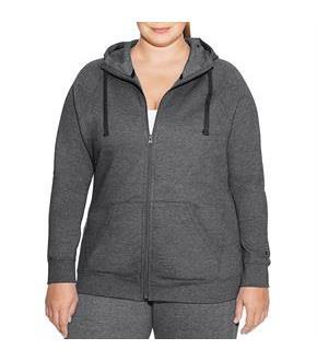Champion Women Plus Fleece Full Zip Hoodie