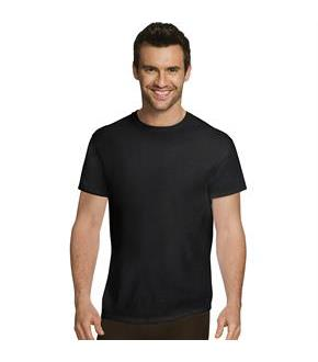 Hanes Ultimate Men's Comfort Fit Ultra Soft Cotton/Modal Undershirt Assorted Black/Grey 4-Pack
