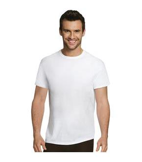 Hanes Ultimate Men's Comfort Fit White Crewneck Undershirt 4-Pack