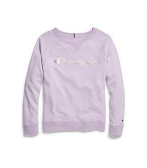 Champion Women's Heritage French Terry Crew, Chainstitch Logo