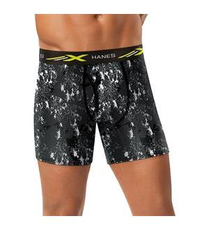 Hanes X-Temp 4-Way Stretch Mesh Performance Boxer Briefs 4-Pack