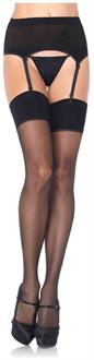 2 PC. Spandex sheer garterbelt and stocking-Plus size