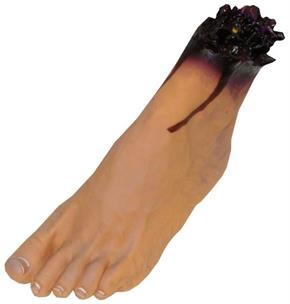 Left Foot Vinyl Decoration Prop