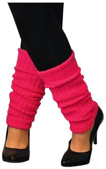 Adult Neon Pink Leg Warmers