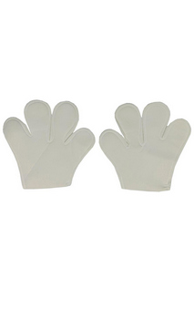 White Mouse Mittens Costume Accessories