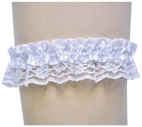 Single White Lace Garter