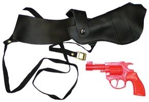 Shoulder Holster With Red Gun Costume Accessory