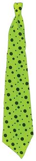Long Neon Lime Green Tie