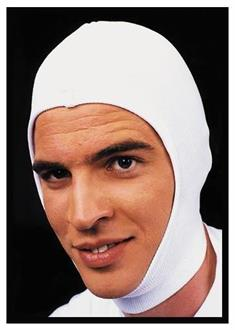 White Stretch Hood Costume Accessory