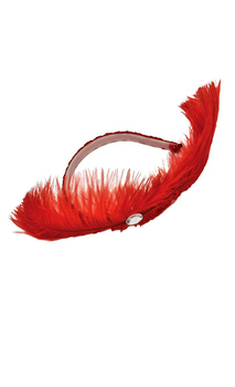 Red Dance Hall Headpiece