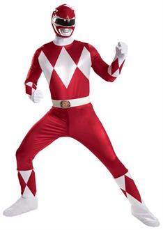 Red Power Ranger Super Deluxe Adult Costume