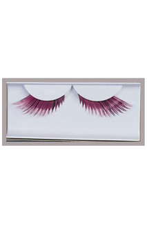 Pink Feather Eyelashes Accessory