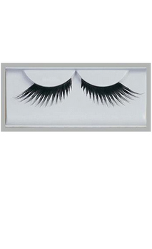 Black Feather Eyelashes Accessory