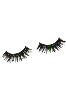 Eyelashes Black Glitter W Tinsel  Accessory