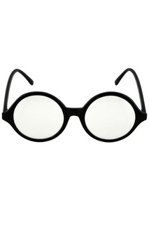 Black Clear Professor Glasses