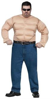 Muscle Man Shirt Plus Size Costume