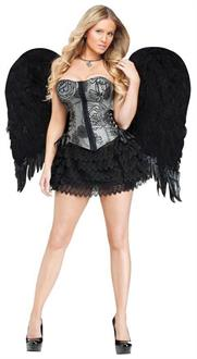 Angel Wings Feather Adult Black