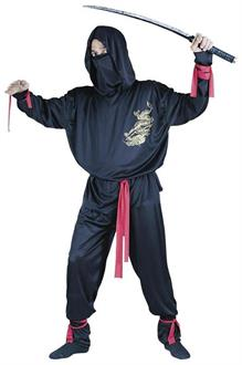 Printed Gold Dragon Ninja Adult Costume