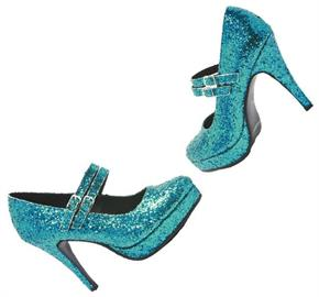 Alice Blue Glitter Shoes
