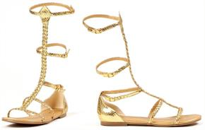 Cairo Gladiator Gold Shoes